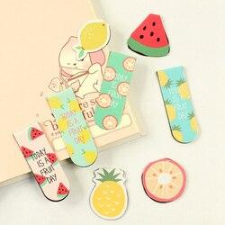 A44 Kawaii милый фруктовый мороженое магнитные закладки книги маркер страницы Канцтовары Школа Офис поставка награждение учеников приз