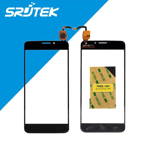 5.0 pulgadas táctil de hd del panel frontal táctil de cristal de pantalla para alcatel one touch idol x + 6043 6043d ot6043 pantalla táctil sensor