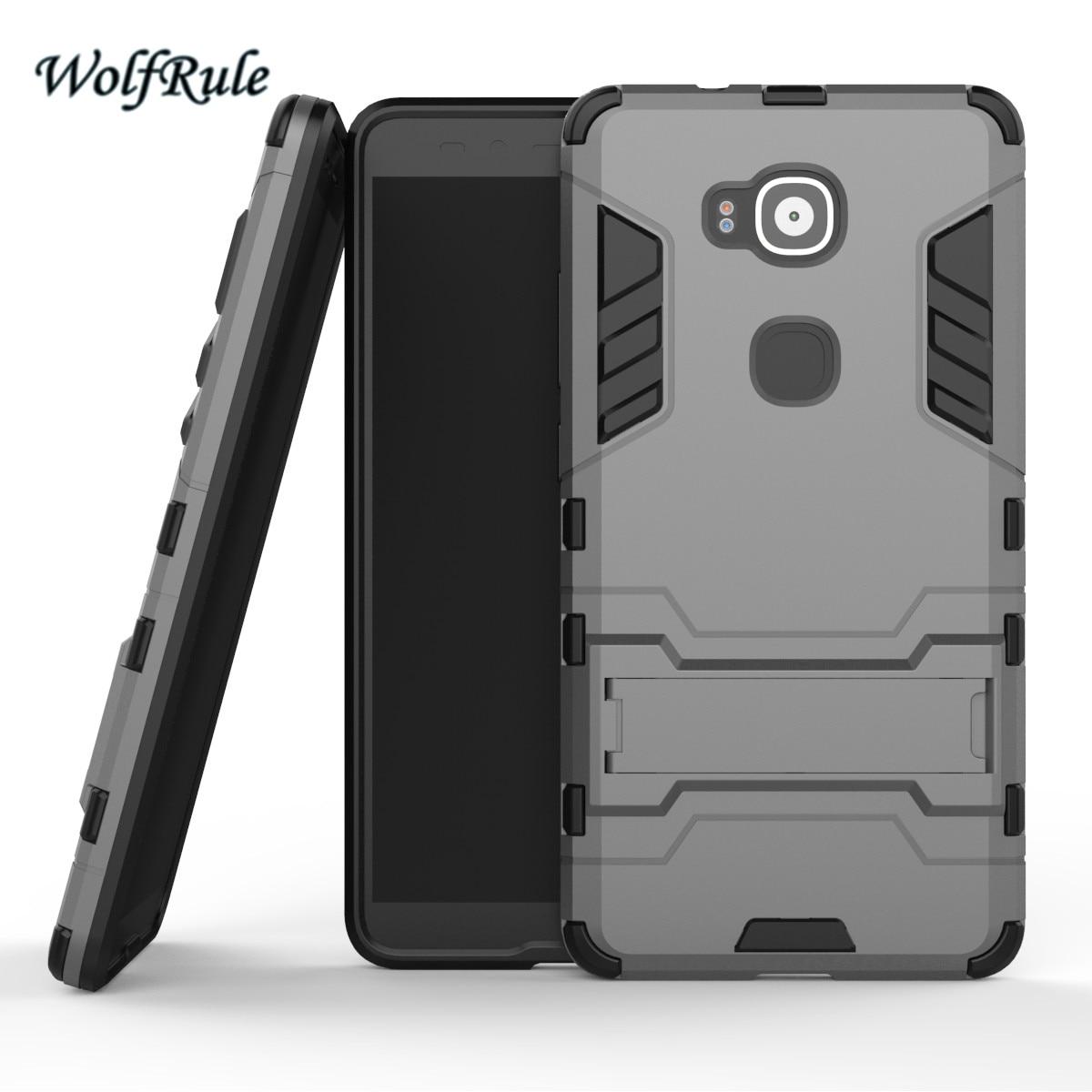 WolfRule Anti-knock Case Huawei G8 Cover Soft Rubber + Hybrid Plastic - Reservdelar och tillbehör för mobiltelefoner - Foto 3