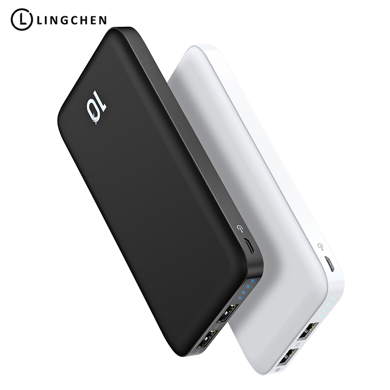 LINGCHEN Power Bank Ultra Slim 10000 mah Power Handy 2.1A 10000 mah Licht Tragbare Lithium-Polymer Externe Batterie