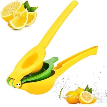 Wielofunkcyjny wyciskarka do cytryn 2 w 1 najlepsze ręczny ze stopu aluminium ze stopu aluminium cytryna pomarańczowy wyciskarka do cytrusów naciśnij owoce narzędzia kuchenne tanie i dobre opinie Owoców i warzyw narzędzia Ce ue Lfgb NUOTEN ND-A62 Zaopatrzony Ekologiczne Metal Squeezers i rozwiertaki Random