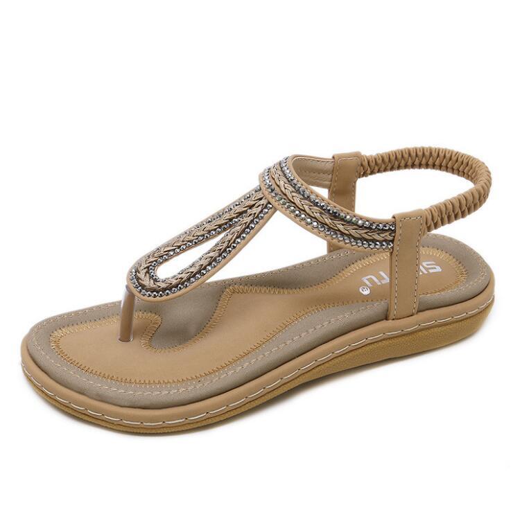 HTB14EJua8v0gK0jSZKbq6zK2FXae Summer Shoes Women Bohemia Ethnic Flip Flops Soft Flat Sandals Woman Casual Comfortable Plus Size Wedge Sandals 35-45