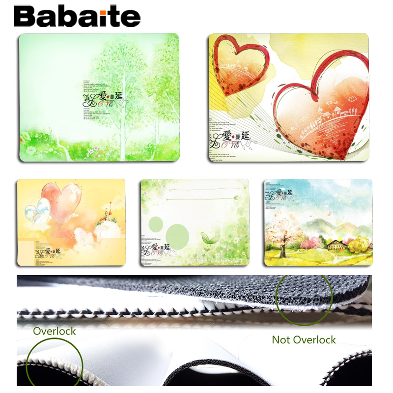 Babaite New Printed Romantic love statement Customized MousePads Computer Laptop Anime Mouse Mat Size for 180x220x2mm Mousepad