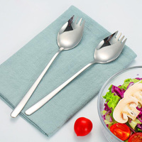 Luxury Stainless Steel Salad Fork Salad Set Public Spoon Good Cutlery Silvery Color Tableware in Salad Service