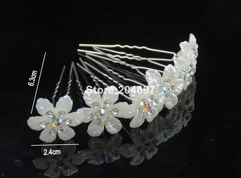 Feelgood 200pcs lot 2015 New Design Trendy AB Crystal Imitation Pearl Flower  Hair Pins Wedding Bride Hair Accessories Wholesale-in Hair Jewelry from  Jewelry ... 0c49ab84a88c