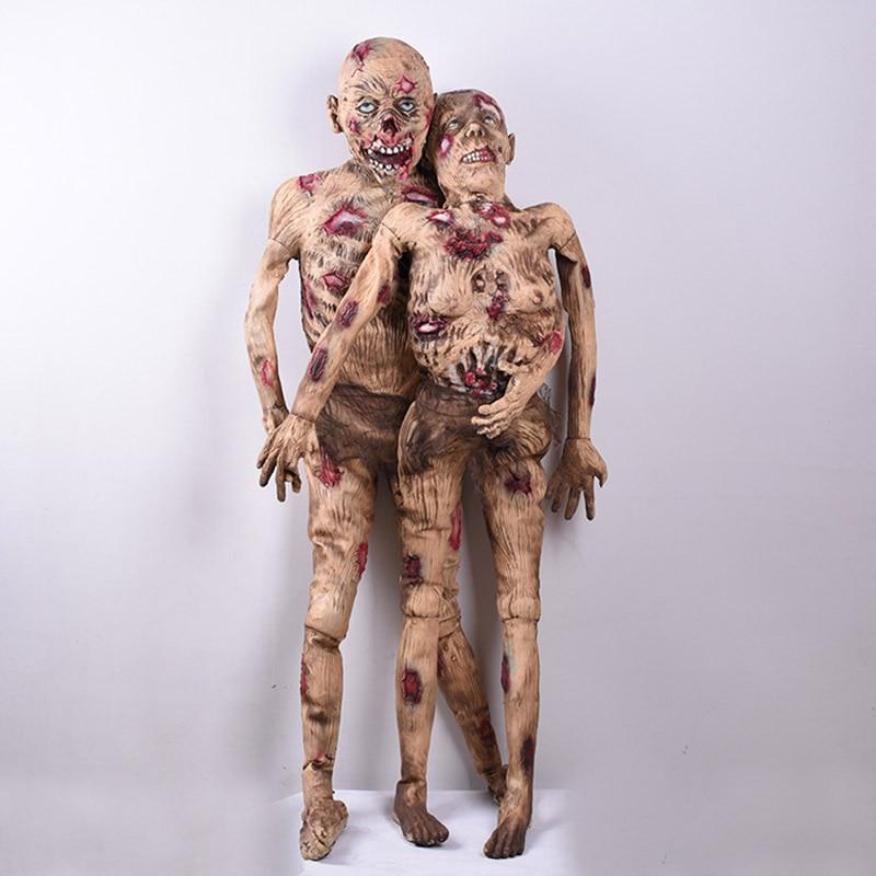 Debout hommes/femmes Zombie Halloween décoration horreur accessoires sanglant corps fantôme Simulation sec cadavre modèle effrayant pourris personnes