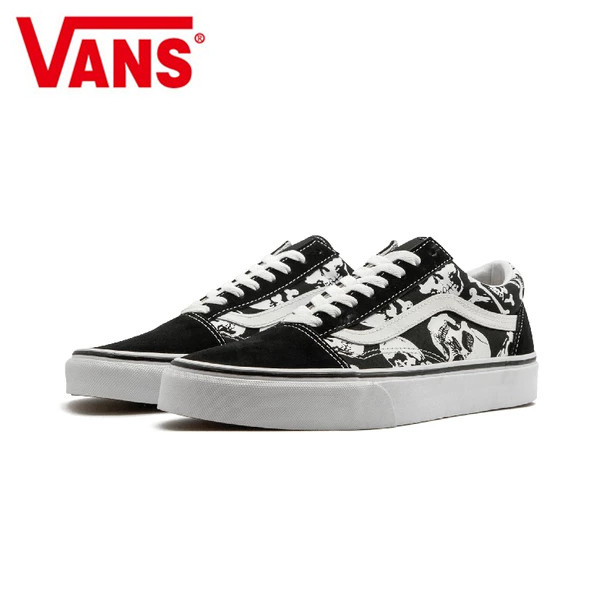 41153b9b27 Original Vans Old Skool Skateboarding Shoes Unisex Black Pattern Sneakers  Shoes Weight lifting shoes Eur 36-44