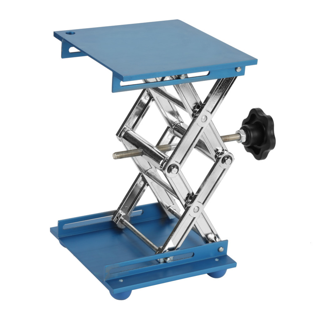 Stainless Steel/Aluminum Oxide Laboratory Lifting Platform Stand Scissor Rack 150*150*250mm 100mm*100mm*160mm Lifting Tools