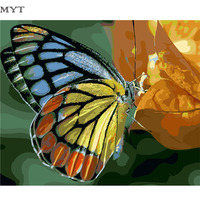 Hand Painting Canvas Oil Painting Frameless DIY Digital Oil Painting By Numbers One Piece Painting Butterfly