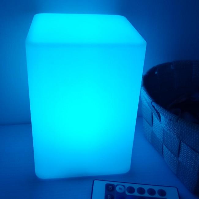 16 cor cuboid led noite lâmpadas ao