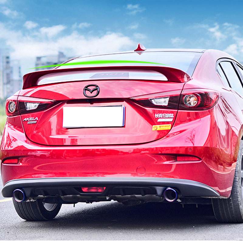 For Mazda 3 Axela Spoiler 2014 2015 2016 2017 M6 GT Style Car Tail Wing Decoration ABS Plastic Unpainted Auto Rear Trunk Spoiler 13 14 15 17inch big size nylon computer laptop solid notebook tablet bag bags case messenger shoulder unisex men women durable