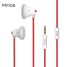 Mrice E100 Universal Lightweight Stereo Earphone Earbuds High-quality Sound Head