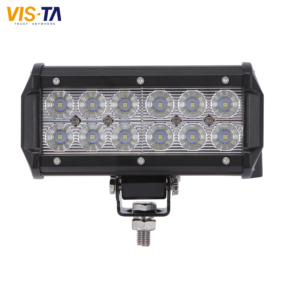 7Inch 36W CREE Chip LED Work Drive Light Bar for Truck Trailer 4x4 4WD SUV ATV OffRoad Car Motorcycle Boat Spot&Flood Beam Lamp 1pc 4d led light bar car styling 27w offroad spot flood combo beam 24v driving work lamp for truck suv atv 4x4 4wd round square