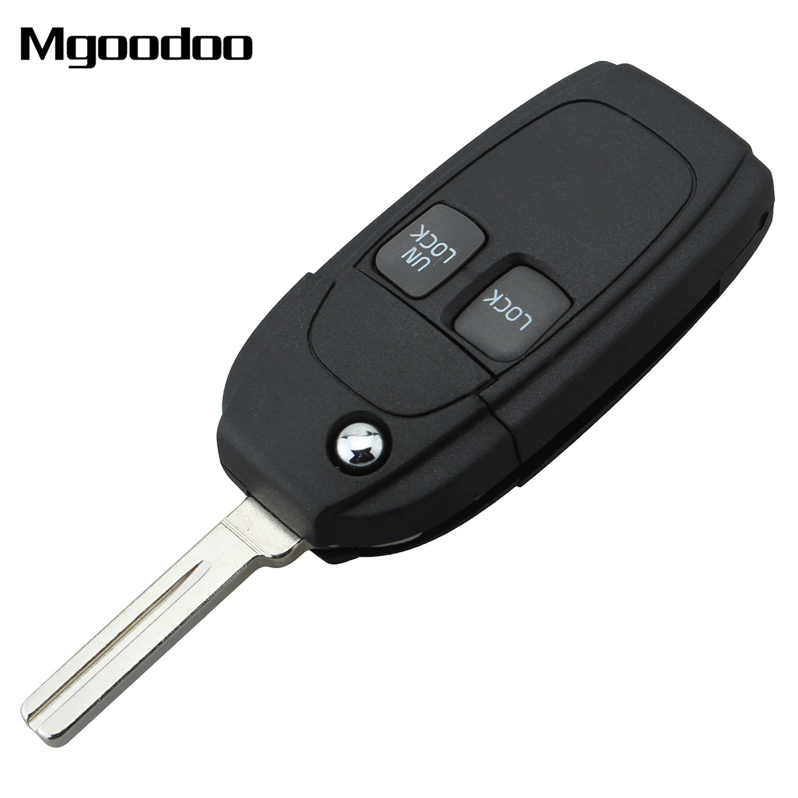 2X Replacement Remote Fob Case Shell Pad for Volvo V40 V70 C70 S80 XC70 XC90 S60