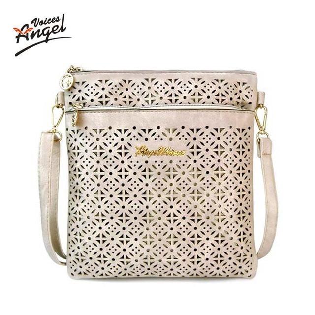 508f085c1 2017 Small Casual Women Messenger Bags PU Hollow Out Crossbody Bags Ladies  Shoulder Purse And Handbags Bolsas Feminina
