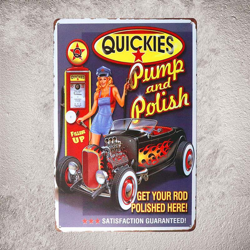 Vintage Tin Sign in Pin up Poster Birrë Paralajmërim jo për tu - Dekor në shtëpi - Foto 4