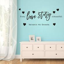 Free shipping every love story Wall Stickers Personalized Creative For Bedroom Decoration Accessories