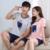 Nuevos Amantes de la Marca de Algodón Pijamas Mujeres ropa de Dormir Camisón de Dormir y Descansar Homewear Pijamas Para Hombre de Los Hombres Ropa de Moda