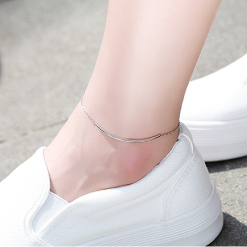 Fashion 925 Sterling Silver with White Gold Plated Anklets Women Charm Brand Jewelry Free Shipping SA032