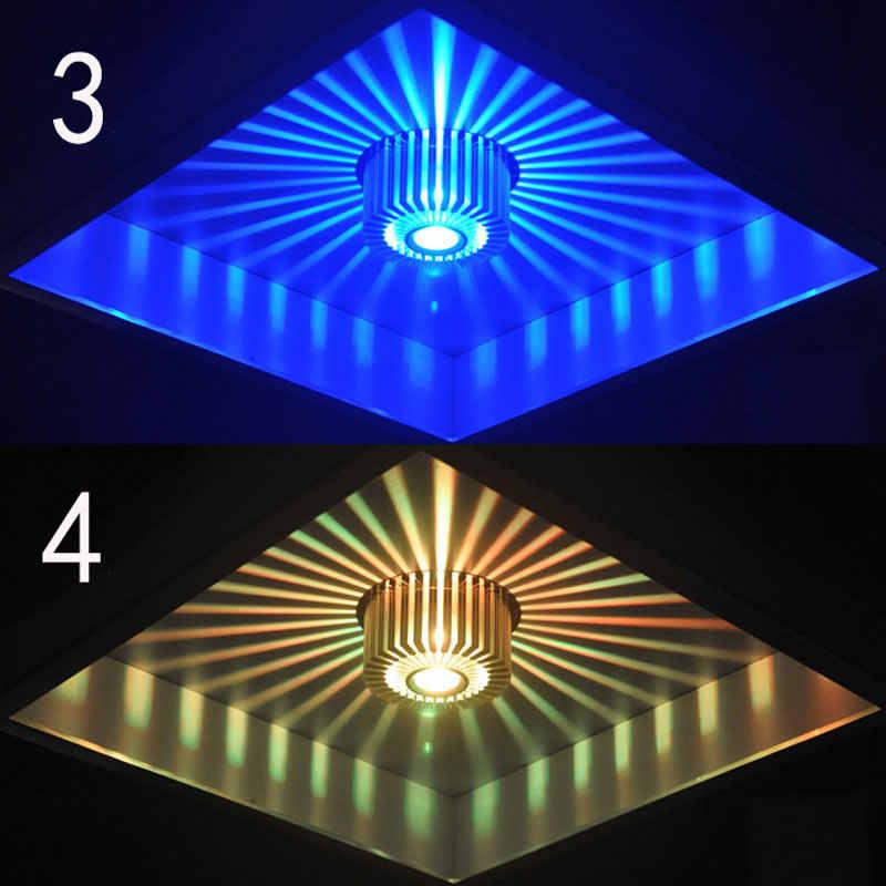 Современный светодиодный потолочный светильник 3 Вт светодиодный прожектор RGB Светильник Бра картинная галерея украшение спереди балкон лампа крыльцо света коридоры