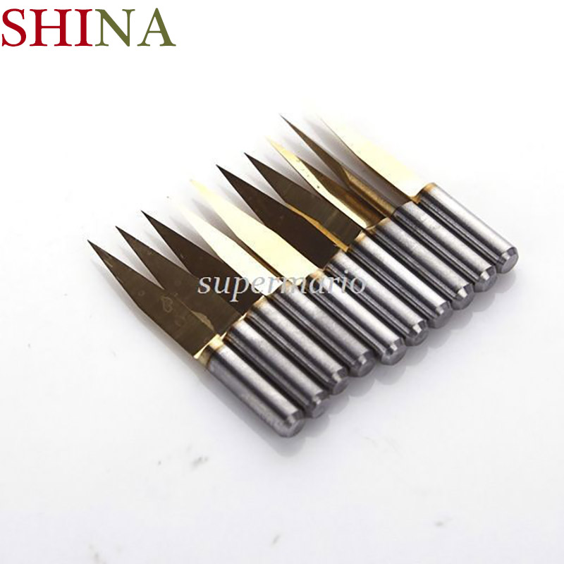 10x Titanium Milling Cutters Coated Carbide PCB Engraving CNC Bit Router Tool 3.175 20 Degree 0.2mm Tip 10x titanium milling cutters coated carbide pcb engraving cnc bit router tool 45 degree 0 2mm tip