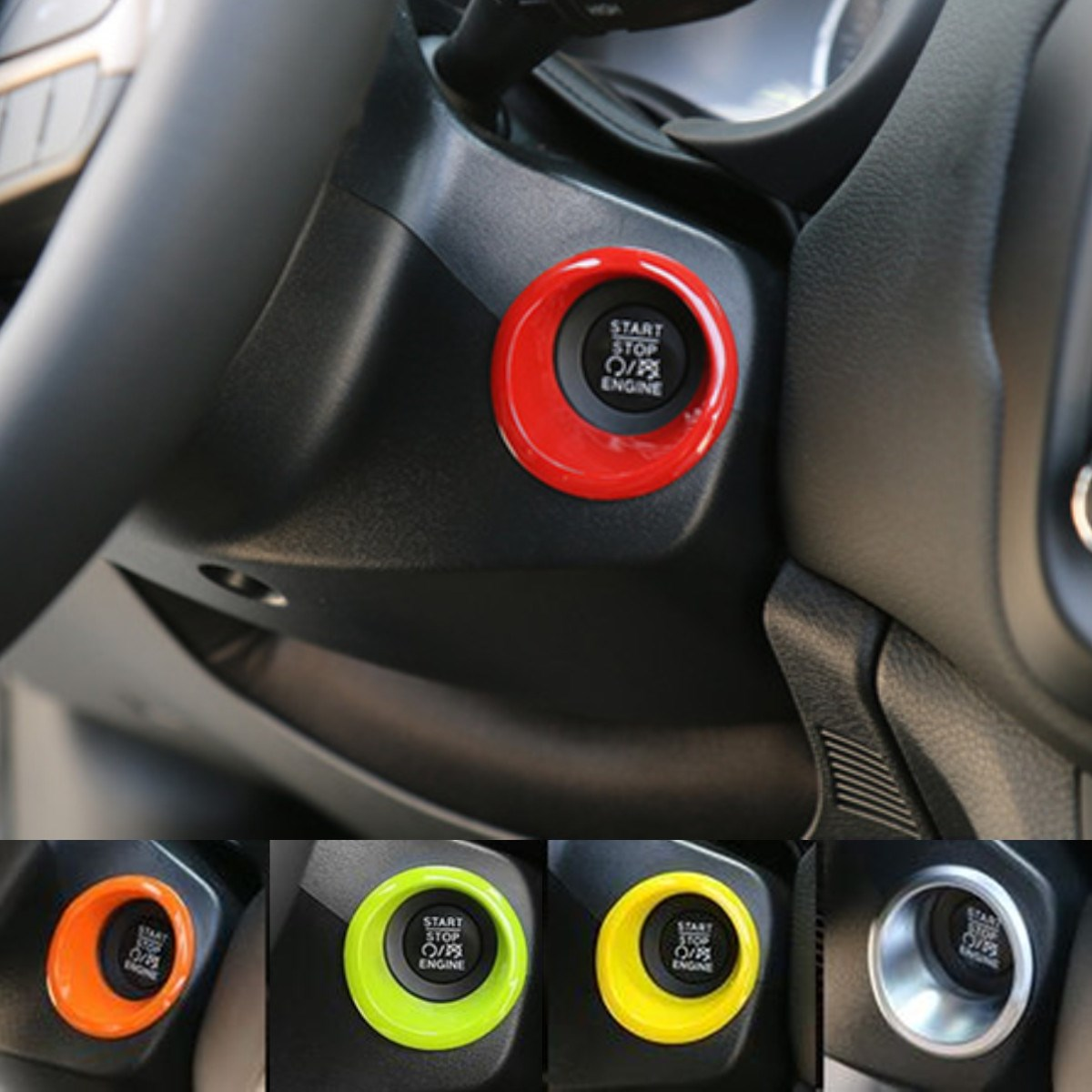 ABS Start Stop Decorative Frame Cover Trim For Jeep Renegade 2015-2016 Yellow Green Orange Red Silver