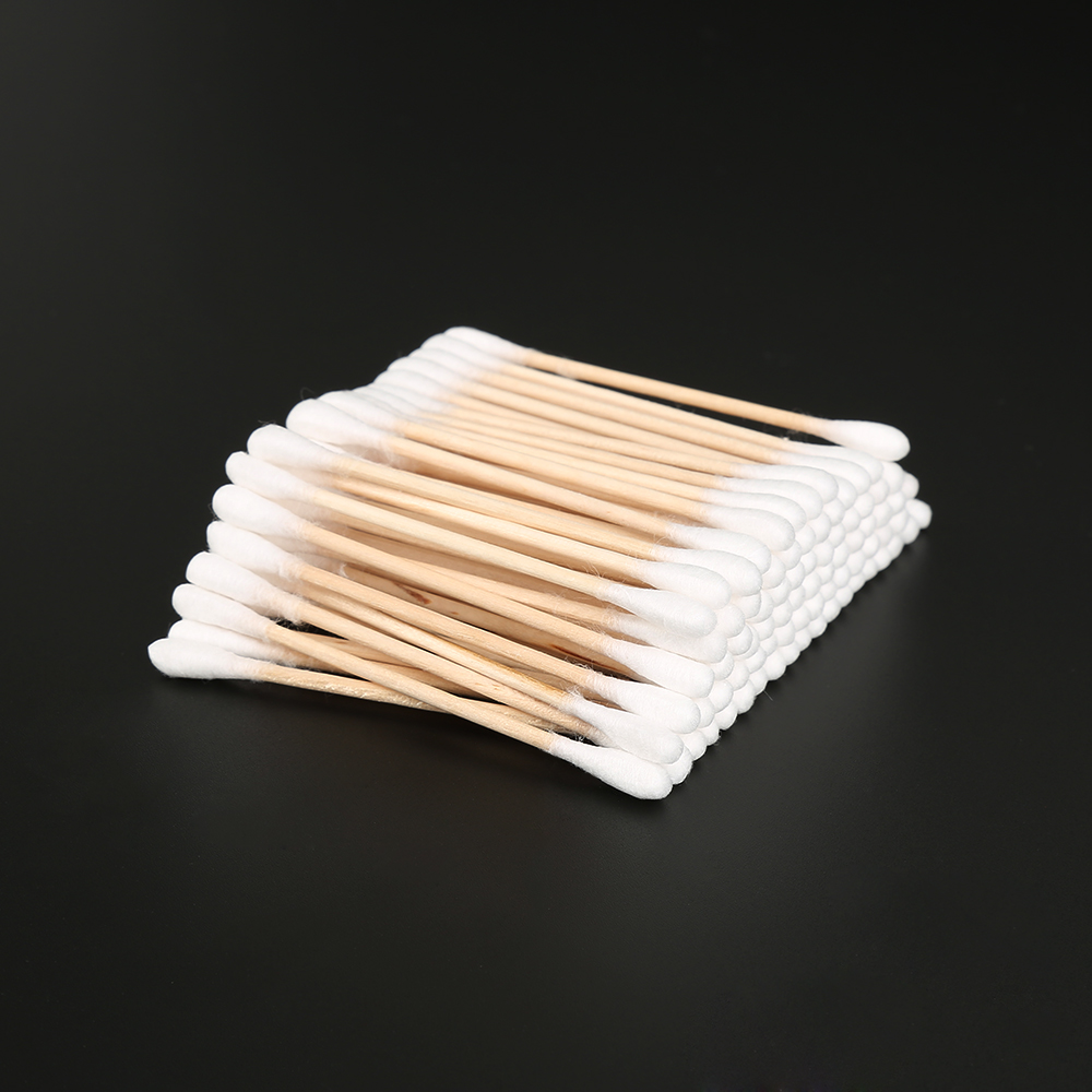 ELECOOL 100 Pcs Double Tipped Makeup Cotton Swab Disposable Absorbent Hygienic Makeup Cotton Swabs For Health Care