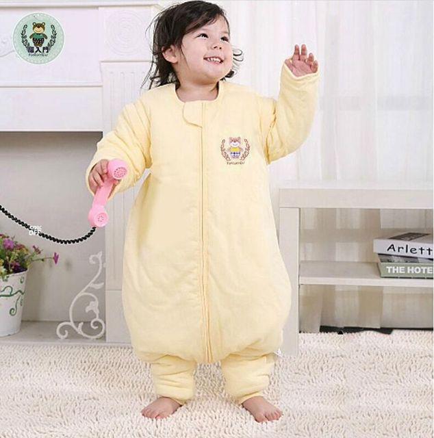 02b9571b357b Legs baby sleeping bag spring and summer thin section sleeve cotton  sub-foot anti genuine