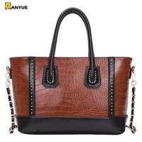 Luxury Crocodile Smiley Trapeze Tote Bag Designer Handbags Women Shoulder Handbag Rivet Chain Bolsa Ladies Large Messenger Bags