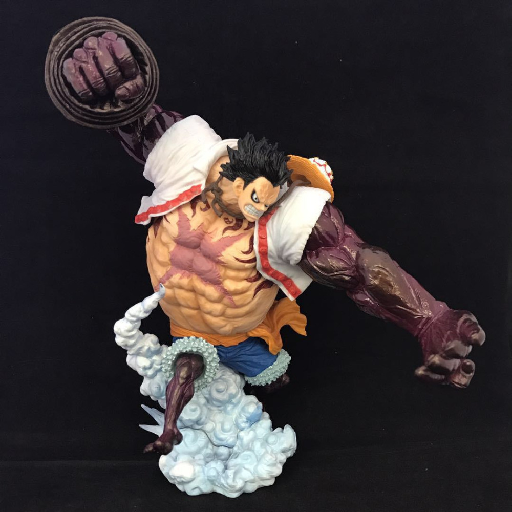цена на Anime One Piece POP Gear 4 Monkey D Luffy Battle Ver PVC Model 21cm Decoration Action Figure Doll