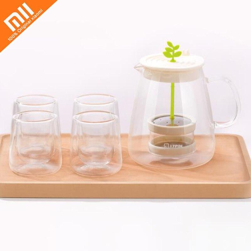Original xiaomi mijia17PIN tea fun pot set 800ml capacity high borosilicate high temperature glass 304 stainless