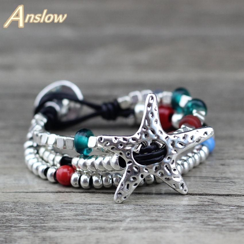 Anslow nouvelle offre spéciale Promotion remise Unique argent plaqué multicouche coloré mère fête de noël cadeau LOW0652LB