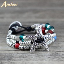 Anslow Brand New Hot Sale Promotion Discount Unique Silver Plated Multilayer Colorful Mothers Christmas Day Gift  LOW0652LB