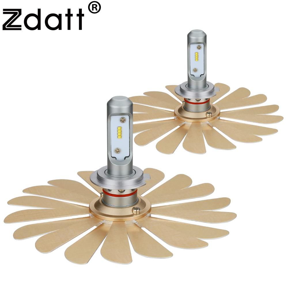 Zdatt Headlight Bulbs ZES H7 Led Bulb 100W 12000LM 6000K H1 H4 H8 H9 H11 9005 HB3 9006 HB4 Car Lights 12V Auto Fanless Lamp джинсы outfit kids outfit kids ou003ebbqvk8