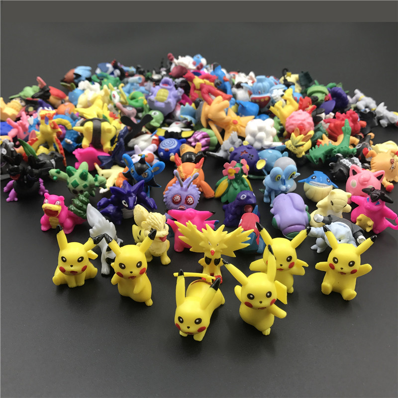 144 Different Styles 2.5-3cm 24pcs/bag Toys Anime Figure Action Figure  Pokemones   Toys Kids Birthday Gifts Model Figure Toys