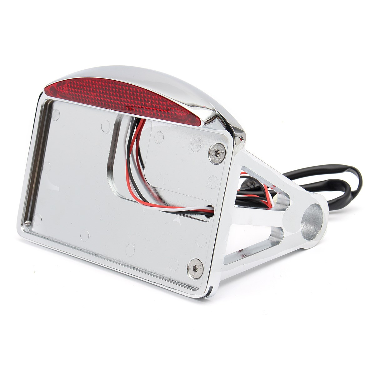 Motorcycle License Plate LED Tail Light Horizontal Side Mount Bracket Fit For Harley
