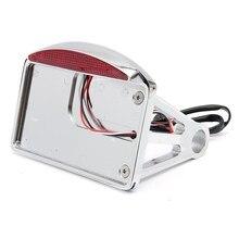 Matrícula de la motocicleta LED Luz de la Cola Horizontal Soporte de Montaje Lateral Fit Para Harley