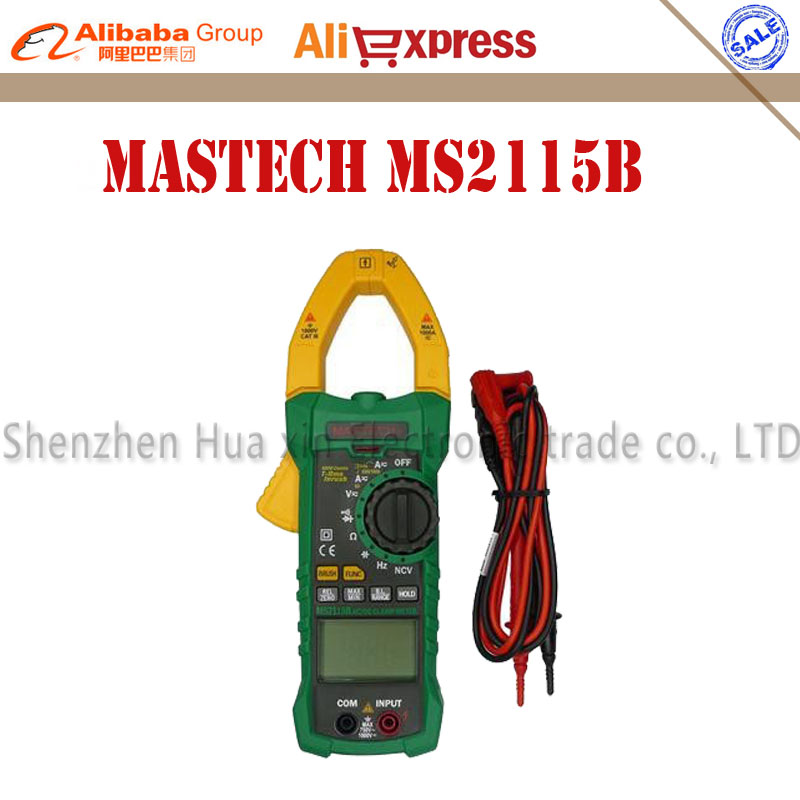 MASTECH MS2115B True RMS Digital Clamp Meter Multimeter DC AC Voltage Current Ohm Capacitance Frequency Tester with USB digital dc ac clamp meters multimeter true rms voltage current resistance capacitance 1000a tester mastech ms2115a