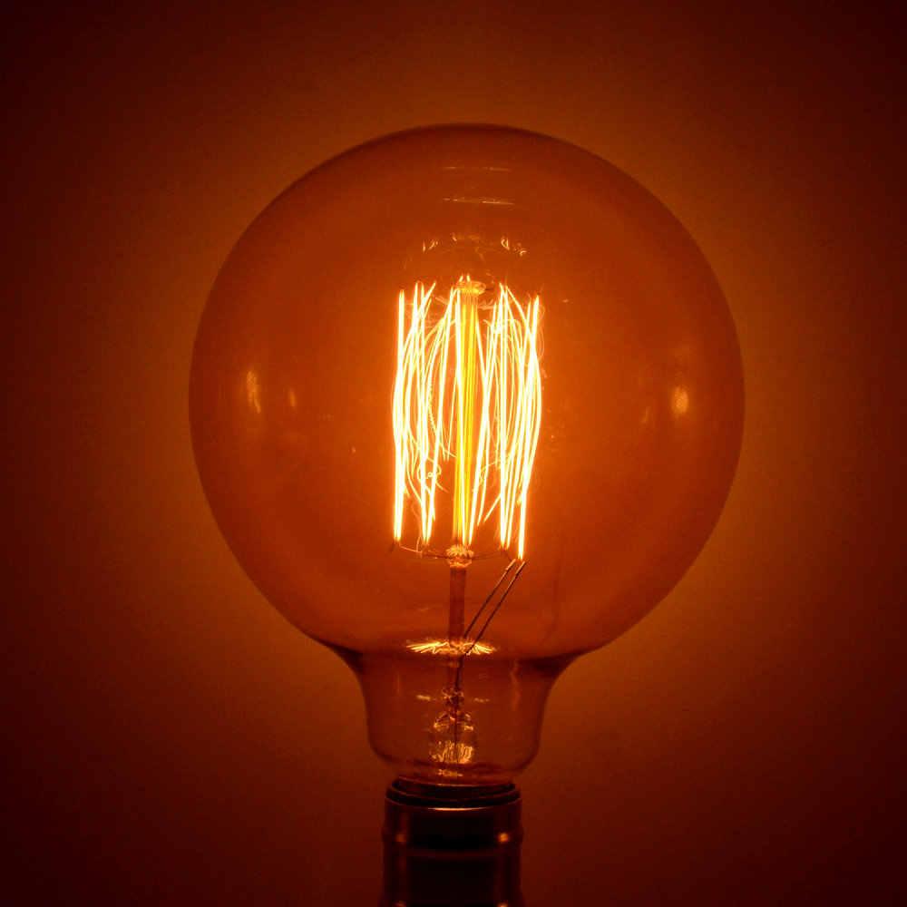 Handmade Edison Đèn Carbon Filament Rõ Ràng Glass của Edison Retro Cổ Điển Bóng Đèn Sợi Đốt 40 wát/60 wát 220 v e27 G125