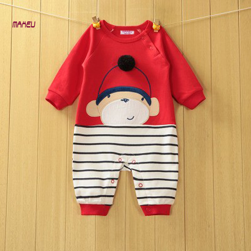 2017 New Fashion Spring Autumn Baby Romper 100% Cotton Newbron Baby Jumpsuit without Cap Multi Animal Styles Infant Kids Clothes 2017 new baby romper 100