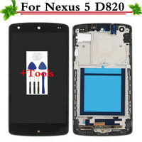 100 Warranty For LG Google Nexus 5 D820 D821 LCD Screen Display With Touch Glass Digitizer