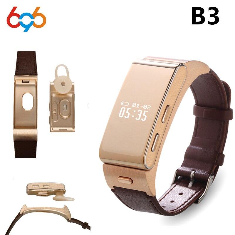 696 B3 Bande À Puce Montre Nouveau Produit de Bluetooth Écouteurs Casque Avec Personnalisé Bouchons D'oreille vs M Banda 2