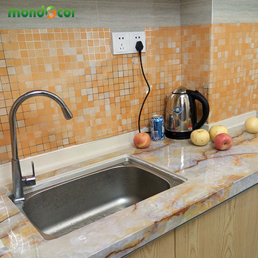 45cmx10m modern bathroom kitchen mosaic tiles decorative for Waterproof wallpaper for home