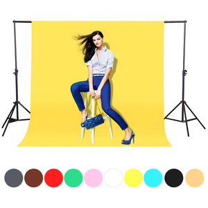 Image 1 - CY In stock 1.6x3m yellow Cotton Non Woven Textile Muslin Photo Backgrounds Studio Photography Screen Chromakey Backdrop