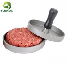 Hamburger Press Aluminum Alloy Burger Meat Maker Mold Round Beef Grill burger Patty Kitchen Cooking Tools