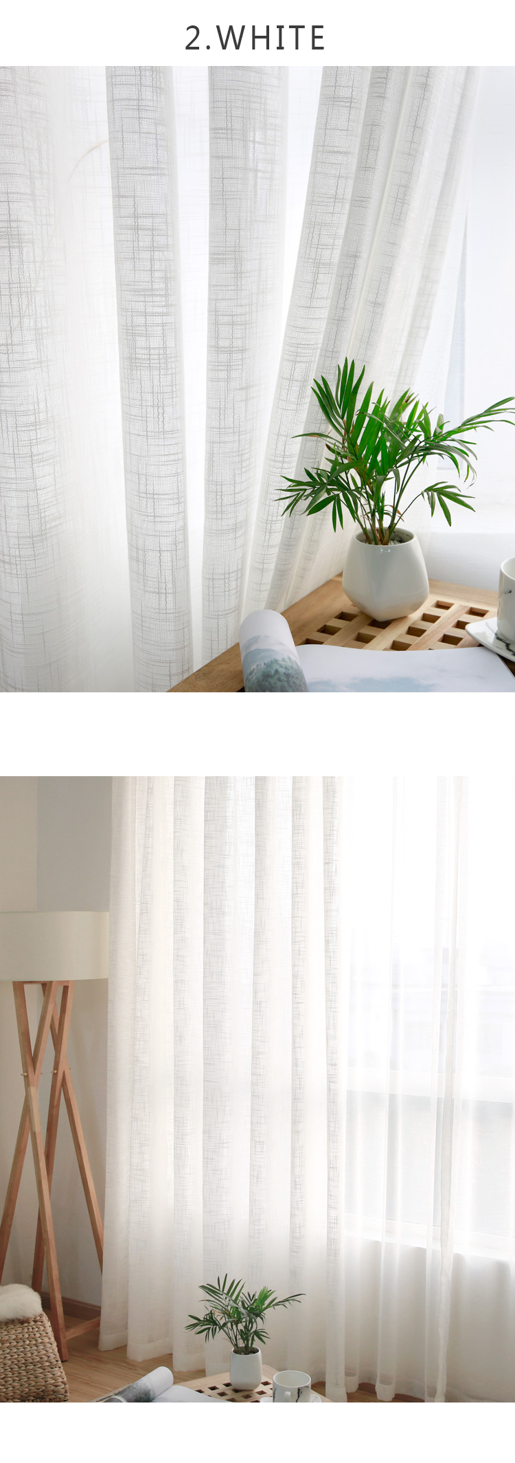 CITYINCITY Tulle  American Curtains for Living room Soft White Voile  solid Rural Tulle Curtain for bedroom ready made curtain08