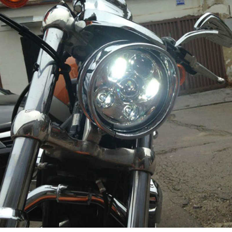 """Replacement Glass 7/"""" Headlight Lens For Harley Dyna Softail Sportster Touring XL"""