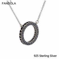 Authentic 925 Sterling Silver United In Love Necklace Charms With Glitter For Elegant Women Jewelry Full