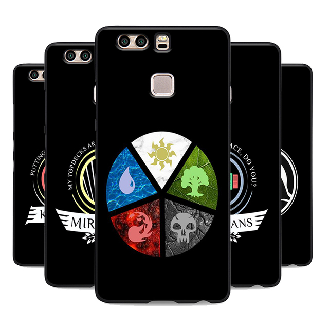 timeless design f1f81 3f4fd US $1.64 34% OFF|MTG Magic the Gathering phone case for huawei p8 p9 p10  lite p20 pro mate 10 lite soft Silicone black cover UV print bag-in ...