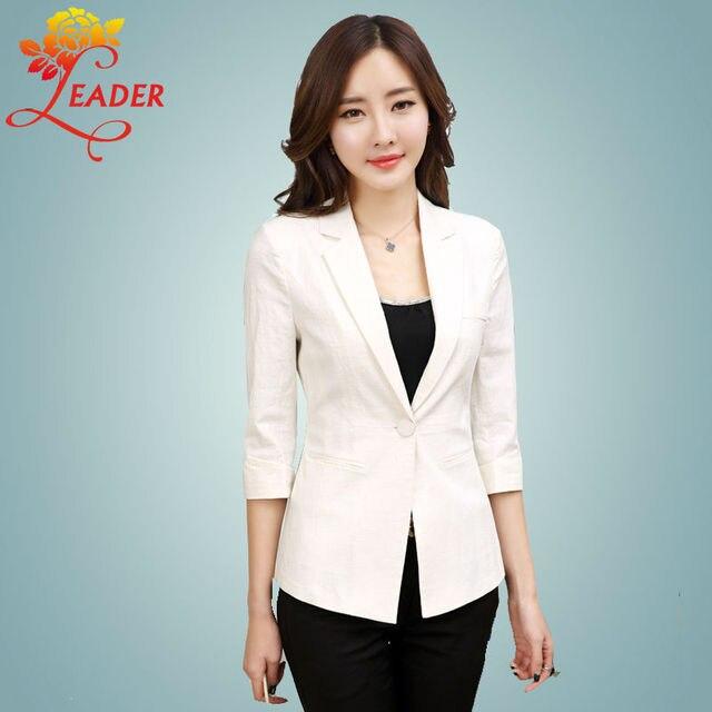 Aliexpress.com : Buy 2016 New Summer Linen Women Blazers and ...